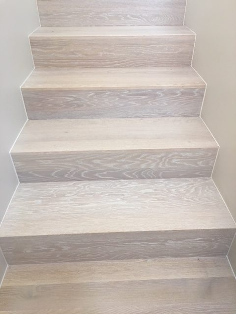 Escalier En Prolongement Du Parquet Ceruse